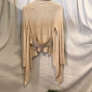 Sweaters - Jr. Size cream tapered crop sweater